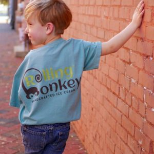 Rolling Monkey | Kids T-Shirt | Green