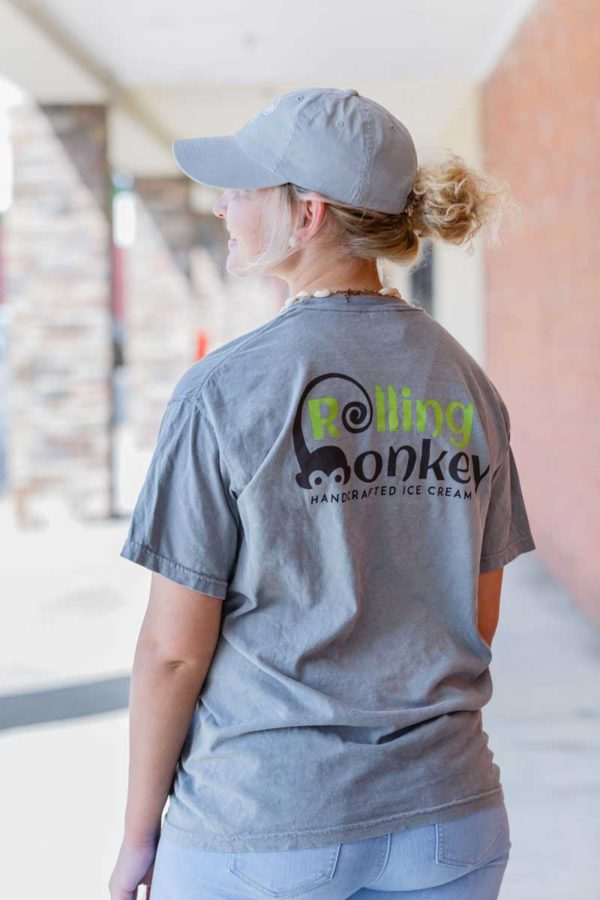 Rolling Monkey Handcrafted Ice Cream | T-Shirt | Grey