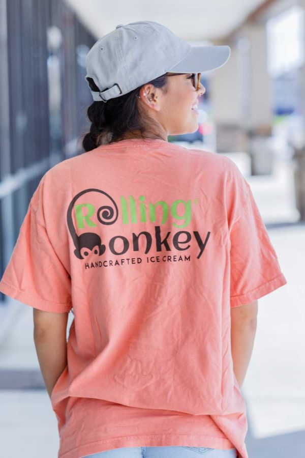 Rolling Monkey Handcrafted Ice Cream | T-Shirt | Teracotta